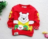 baby boys cartoon bear T-shirts cotton long sleeves shirt kids sweater t-shirt fashion tops children /autumn