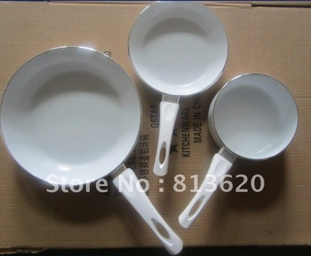 PROMOTION SALE --3 PCS CERAMIC  PAN ---NON STICK   SAUCE POT   &FRY PAN--