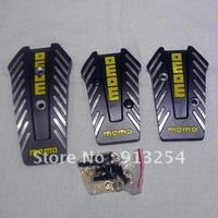 Free Shipping GTR2 Aluminum Auto Pedal Cover Set For MT Car Black/Grey Wholesale and Retail