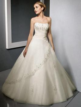 Новый 2014 свадебные кружева свадебное платье принцессы корейский бюстгальтер большой ярдов большой хвост