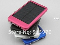 Free shipping 5000MAh solar charger External Battery for ipad, iphone, smart phone