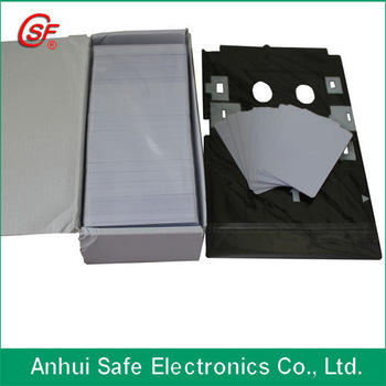 125khz inkjet RFID Card,double sided printable directly 100pcs+1pcs id card tray
