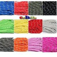1pcs PackReflective Paracord 550 Parachute Rope 7 Core Strand 100FT For Buckles Bracelet 50 Colors For Pick #S0021-C(Mix)