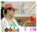 wholesale retail birthday gift  7cm plush toy  birds 5color 10pcs Mobile phone  pendant  free shipping(China (Mainland))