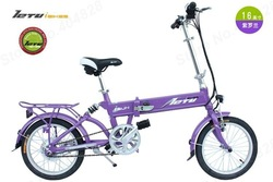 16'''x 1.75 Portable LI-battery Electric Folding Bicycle,Max 20Km/h,150KG Load,24V 9Ah,220W Power Motor.(China (Mainland))