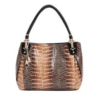 2014 New Free shipping Fashion PU Leopard Women Messenger Bag lady PU Leather Handbags women's hand bag Shoulder bag wholesale