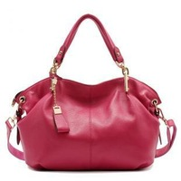 100%Genuine leather women's handbag2013new fashion leather bag messenger bag designer bag birstdaygift Christmas gift for wife
