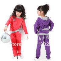 2013 Spring Paillette Children clothing Kids suits Girls set Sport suit Double C Rhinestone Letters Tracksuit Casual clothes