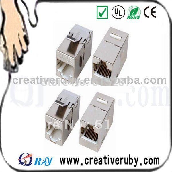 100pcs/lot STP Cat5e Keystone Jack from Shenzhen China manufacturer(China (Mainland))