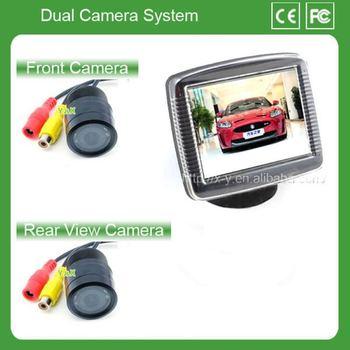 Camera car front car monitor 3.5  ir led night vision camera  car ccd