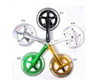 Alloy Bicycle Crank Cranksets SBCS-004 Polish Silver /46T*170mm*130mm(BCD)