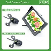 "rear view camera with parking lines monitor 4.3 "" car camera 170 degree night vision color rear view car camera hd"