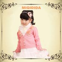 Miqidida 11029  Newest Designer For Autumn And Winter Child Cardigan Princess Children Baby Girls Sweater Cardigan