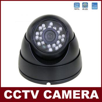 "CCTV Camera 700TVL 1/3"" Color CMOS Indoor 24 LED IR Night Vision Dome Security Camera For The Video Camera Surveillance System"