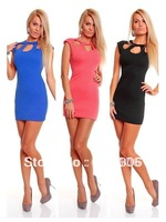 Black Blue Pink Fashion Ladies Siamese Underwear with zipper Sexy Club Dress clubbing wear Exotic Clubwear free shipping