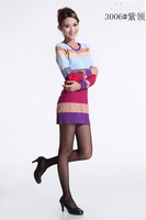 Free shipping.2012 polo Western popular Layered dress sweater women.Slim striped autumn sweater.Hot sale cotton knitted sweater