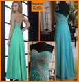 Promotion Best Selling 2012 Fashion Sweetheart Long Green Color Backless Sexy Fishtail Prom Dress 2012 Custom Made Design FX2