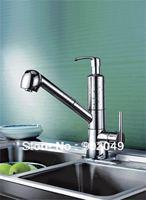 Sink Faucet Bathroom Glow Polish Kitchen Faucet Brass Zinc Alloy Handle Ceramic Spool Single Handle Deck Mount Faucet KF-5029