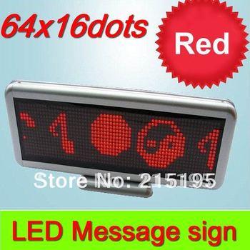 Wholesale Indoor LED scrolling message sign 16*64pixel single red color dot matrix Led Display for bus desk restaurant