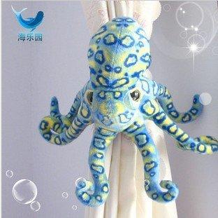 2012 New Arrival Creative 36cm Blue Leopard Octopus Window Curtain Hook Tieback Curtain Buckle Belt Clamp Clip Hook