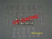 [Vic] 16pcs motorcycle parts silver color  Fasteners fairing bolt set for racing bikes Type A