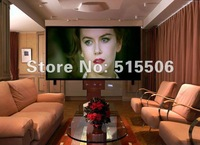 Free shipping 106'' 16:9  HDTV format electric projector screen motorized projection screen matte white with remote control