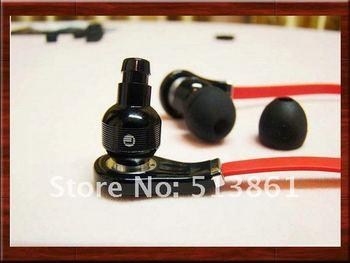 "with mic  Fashionable ""L"" In-Ear  (Earphone + in Case + Ear Cap + Clip) Free shipping New fashion earphone Headphones"