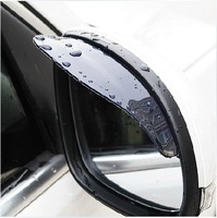Holiday sale! 1 pair Car Rain Shield Rear View Side Mirror Rain Shield Shower Blocker Cover Sun Visor Shade Guard Free Shipping