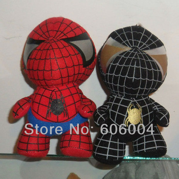 "Free Shipping EMS 30/Lot 2 Colours Marvel Comics Kelly Plush Toy SPIDER-MAN 6"" Black & Red Wholesale"