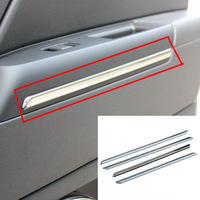 4 pcs Car Door Interior Mouldings Trim Modification Stainless Steel For Jeep Compass 07-15 - free shipping
