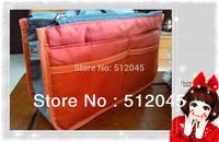 50pcs wholesale  9 Colors+with tag  Women Insert Purse Cosmetic Storage Organizer Bag Handbag Makeup Tidy Travel -Free Shipping