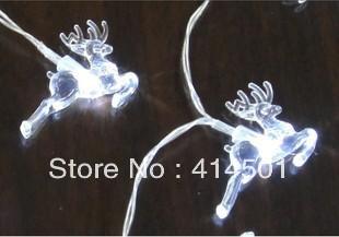 New Year white ice reindeer LED battery Christmas holiday lights flashing  wedding bar shop decoration lamp String light 20