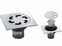 "KL-93B (4"") Short pipe Bathroom Accessory Stainless Steel Floor Drains Custom Made Item with High Quality"
