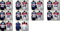 Free shipping-Wholesale 2014 USA Blue/White jersey,Ice Hockey nation jerseys,5Pcs/Lot