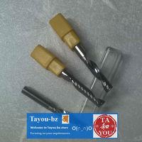 10 pcs 6x6x25mm Acrylics Cnc Router Single Flute Spiral bits Free Shipping TYM