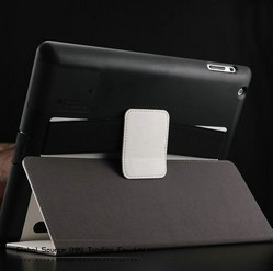 Folding Stand leather case for ipad 3 2 with arm band smartcover for ipad 2 magnetic leather back cover hong kong free shipping(China (Mainland))