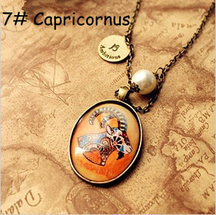 Min Order $15 Fashion christmas gift The Signs of the Zodiac necklace MN062 Magi Jewelry(China (Mainland))