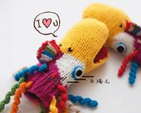 Winter knitted gloves women's Women thermal animal handmade yarn gloves