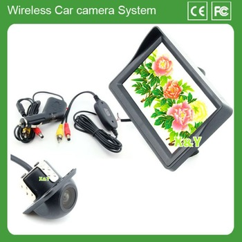 4.3 led display back up camera wireless oem parking sensor ccd camera car 12 v