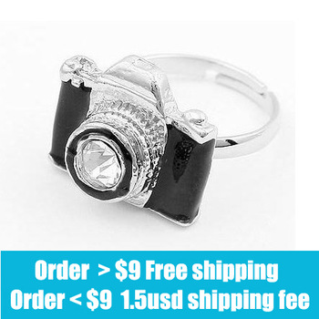 Fashion Korea personality hot sale camera ring wholesale free shipping