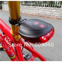 Bike Rear LED 2 Laser Light Back lamp For Bicycle Cycling Safety Warning Flashing 6-modes,Free Drop Shipping