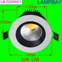LED downlight 20W COB replace to 200W bulb high lumens high quality two years warranty