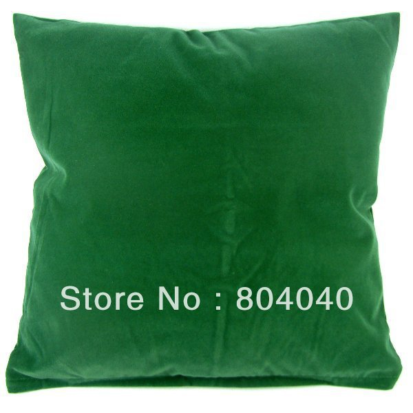 "Wholesale Price High Quality Solid Dark Green Plain Design Pillow Case Decor Cushion Cover Square 20""/50cm PG03(China (Mainland))"