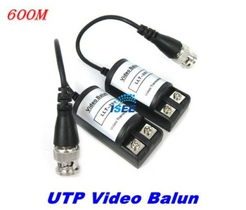 20pairs Pack  CCTV 1CH Passive UTP Video Balun Transceiver BNC Cat5 LLT-201C Free Shipping