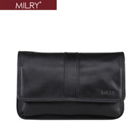 MILRY 100% Genuine Leather Men Large Wrist Bag Clutch bags wallet fashion new handbag black H0021-1