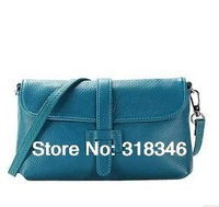 2013 first layer of cowhide genuine leather women's handbag /clutch bag /evening bag free shipping