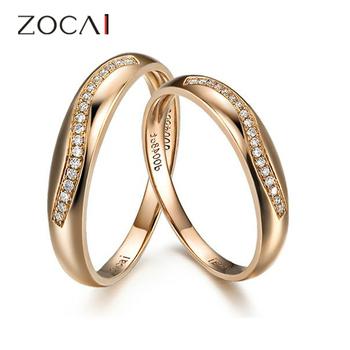 пара zocai 0,1 ct сертифицированный ч/алмазов си его и ее обручальное кольцо кольца мноёеств круглый cut 18k розового золота ювелирной