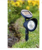 8 Outdoor Garden 3-LED Solar Spot Flood Landscape Light