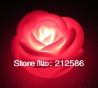 Free shipping 40pcs Red Rose LED Light Lamp.Valentine's Day Gift,Wedding Decoration Rose night  light