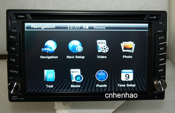 6.2inch in dash 2 double din head unit car dvd cd mp3 player gps navigation ipod steering wheel control RDS stereo